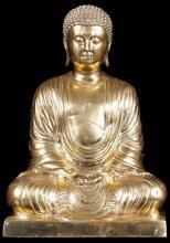 "15"" Golden Japanese Meditating Buddha Statue :: Buddha Decor"