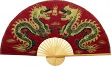 Maroon Dragons :: Chinese Wall Fans