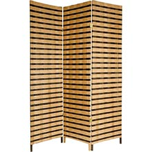 6 ft. Tall Two Tone Natural Fiber Room Divider :: Japanese Shoji Screens