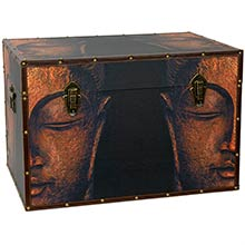 Buddha Storage Trunk :: Oriental Boxes and Trunks