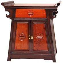 Rosewood Altar Cabinet - Two-tone :: Asian Style Furniture
