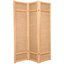 6 ft. Tall Jute Shoji Screen (Natural) ::