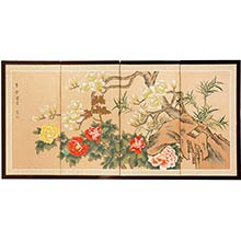 Harmony in Nature :: Japanese Silk Paintings