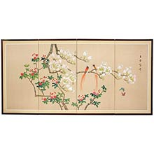Love Birds Wall Art :: Japanese Silk Paintings