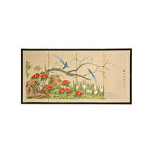 Birds and Flowers are One :: Japanese Silk Paintings