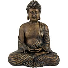 "12"" Japanese Sitting Buddha Statue ::"