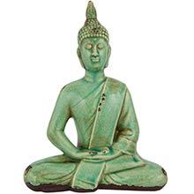 "9"" Thai Sitting Buddha Statue ::"