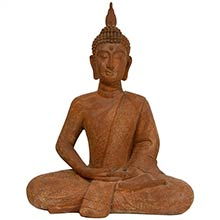 "24"" Thai Sitting Zenjo-in Rust Patina Buddha Statue :: Buddhist Statues"