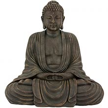 "29.5"" Tall Japanese Sitting Buddha Statue"