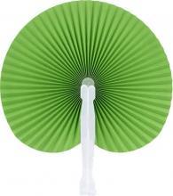 Green Round Folding Hand Fan 10-pack :: green fan