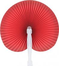 Red Round Folding Hand Fan 10-pack