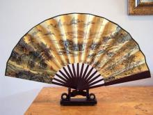 Sprawling Chinese Landscape :: Table Display Fans