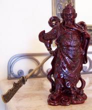 Blood Red General Kwan Kun :: Resin Statues