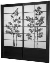 7 ft. Tall Black Bamboo Tree Shoji Sliding Door Kit :: Shoji Sliding Doors