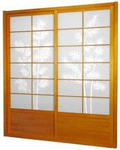 7 ft. Tall Honey Bamboo Tree Shoji Sliding Door Kit :: Shoji Sliding Doors