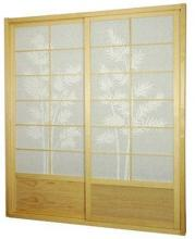 7 ft. Tall Natural Bamboo Tree Shoji Sliding Door Kit :: Shoji Sliding Doors