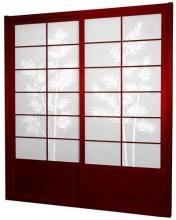 7 ft. Tall Rosewood Bamboo Tree Shoji Sliding Door Kit :: Shoji Sliding Doors
