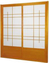 7 ft. Tall Honey Eudes Shoji Sliding Door Kit (Double-Sided) :: Shoji Sliding Doors