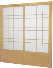 7 ft. Tall Natural Eudes Shoji Sliding Door Kit (Double-Sided) :: Shoji Sliding Doors