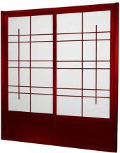 7 ft. Tall Rosewood Eudes Shoji Sliding Door Kit (Double-Sided) :: Shoji Sliding Doors