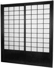 7 ft. Tall Black Zen Shoji Sliding Door Kit (Double-Sided)  :: Shoji Sliding Doors