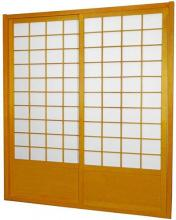 7 ft. Tall Honey Zen Shoji Sliding Door Kit (Double-Sided)  :: Shoji Sliding Doors