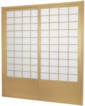 7 ft. Tall Natural Zen Shoji Sliding Door Kit (Double-Sided)  :: Shoji Sliding Doors