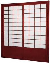 7 ft. Tall Rosewood Zen Shoji Sliding Door Kit (Double-Sided)  :: Shoji Sliding Doors