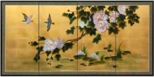 Lilly Pad Pond on Gold Leaf :: Chinese Silk Paintings