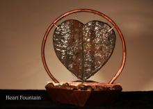 Heart Fountain :: Indoor Water Fountains