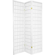 6 ft. Tall Japanese Window Screen (White Finish) :: Japanese Shoji Screens