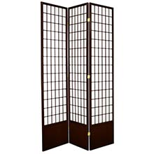"84"" Window Screen (Walnut Finish) :: 84"" Tall Shoji Screens"