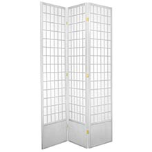 "84"" Window Screen (White Finish) :: 84"" Tall Shoji Screens"