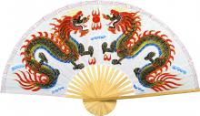 White Dragons :: Chinese Wall Fans