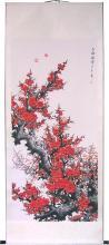 "67"" Thriving Sakura :: Chinese Scroll Paintings"