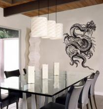 Tangled Dragon Wall Decal :: Asian Art Wall Stickers