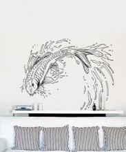 Jumping Koi Fish Wall Decal :: Asian Art Wall Stickers