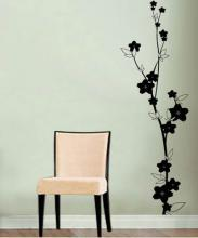 Floral Stalk Wall Decal :: Asian Art Wall Stickers