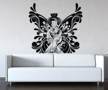 Butterfly Geisha Wall Decal :: Asian Art Wall Stickers