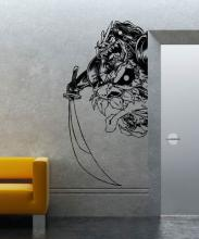 Japanese Demon Wall Decal :: Asian Art Wall Stickers