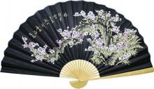 Black Sakura with White Blossoms :: Asian Wall Fans