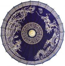 Rooster and Dragon on Dark Blue :: Fashion Umbrellas