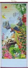 Colorful Peacocks Chinese Scroll :: Chinese Scrolls