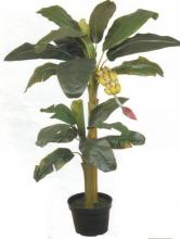 6 foot PLUS 4 foot Double Banana Tree with 18 Real-Touch Leaves  :: Artificial House Plants