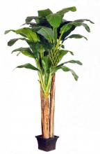 9 foot PLUS 7 foot PLUS 5 foot Triple Banana Tree :: Artificial House Plants