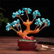 Stone Turquoise Money Tree :: Artificial Bonsai Trees