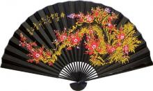 Black and Gold Sakura with Black Bamboo ::