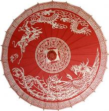 Dragon and Phoenix Umbrella :: Fashion Umbrellas