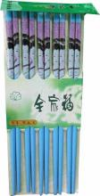 Blue Chopsticks with Geisha Face Set of 5 :: Designer Chopsticks