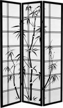 Canvas Bamboo Tree (Black Finish) :: Japanese Shoji Screens